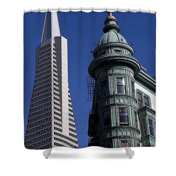 San Francisco Buildings Shower Curtain