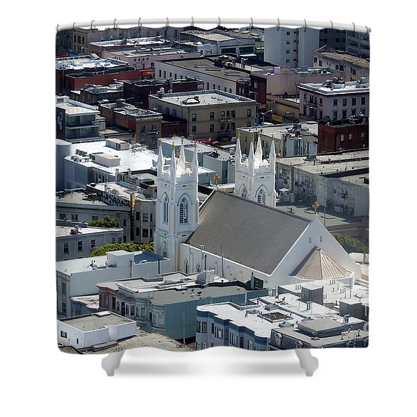 San Francisco St Francis Of Assisi Church Shower Curtain