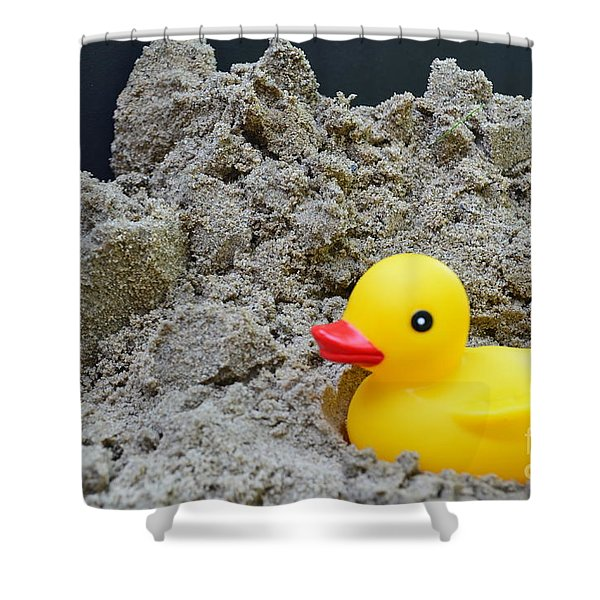 Sand Pile And Ducky Shower Curtain