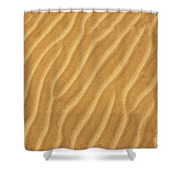 Sand Ripples Abstract Shower Curtain