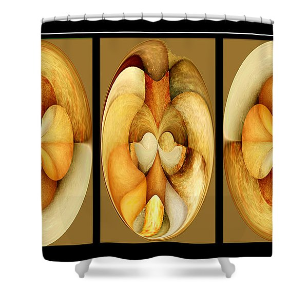 Sanded Woods Triptych Light Shower Curtain