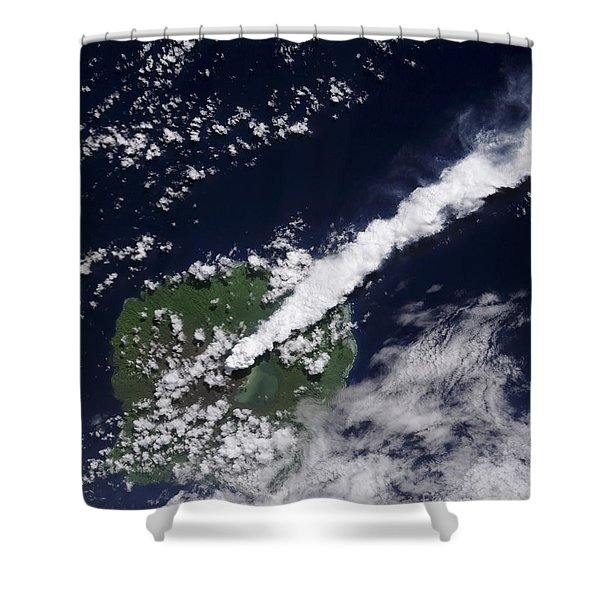 Satellite View Of A Thick, Steam-rich Shower Curtain