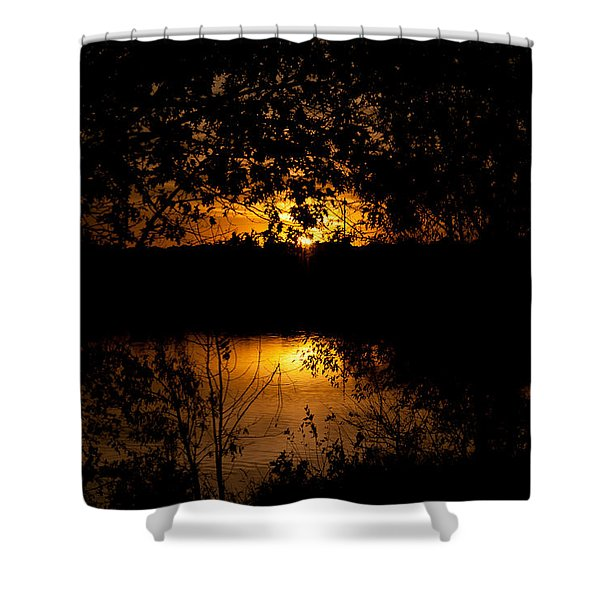 Scary Sunset Shower Curtain