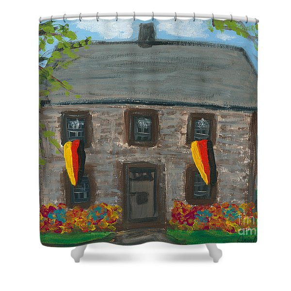 Schifferstadt Architectural Museum II Shower Curtain