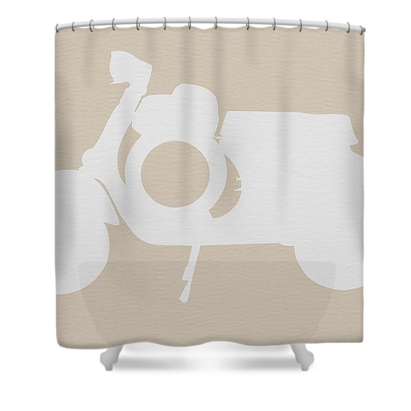 Scooter Brown Poster Shower Curtain