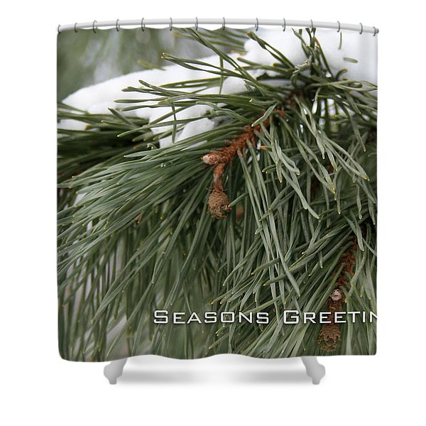 Seasons Greetings Shower Curtain