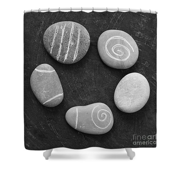 Serenity Stones Shower Curtain