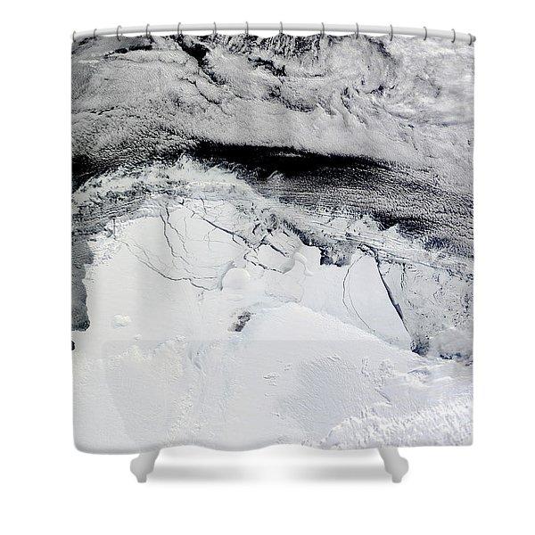Shackleton Ice Shelf, Antarctica Shower Curtain
