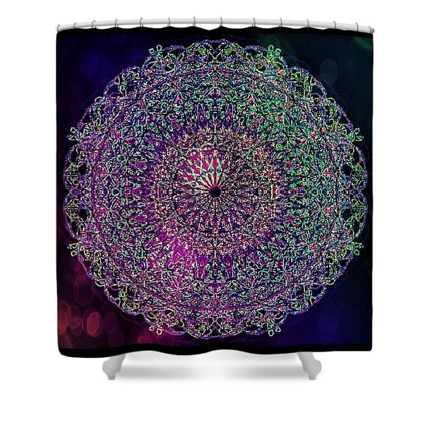 Shadow Mandala Shower Curtain