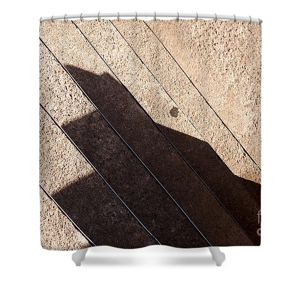 Shower Curtain featuring the photograph Shadow Stair by Agusti Pardo Rossello