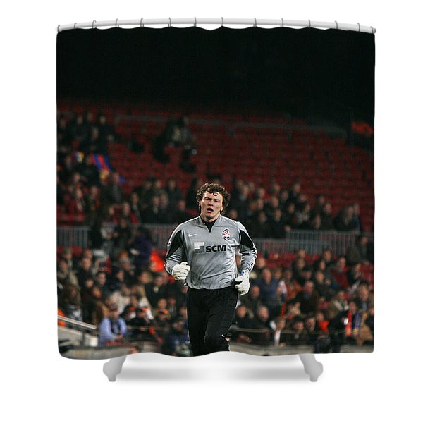 Shower Curtain featuring the photograph Shaktars Goalkeeper 2 by Agusti Pardo Rossello