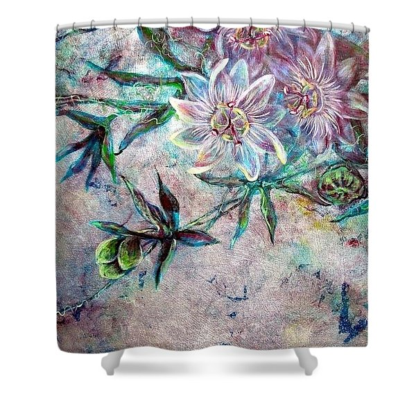 Silver Passions Shower Curtain