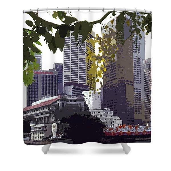 Singapore ... The Lion City  Shower Curtain