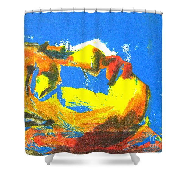 Shower Curtain featuring the painting Sleep by Gabrielle Wilson-Sealy