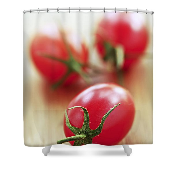 Small Tomatoes Shower Curtain