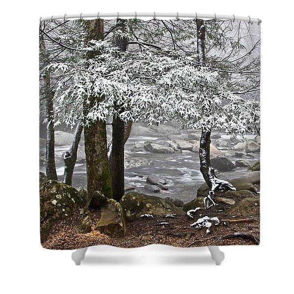 Smoky Mountain Stream Shower Curtain