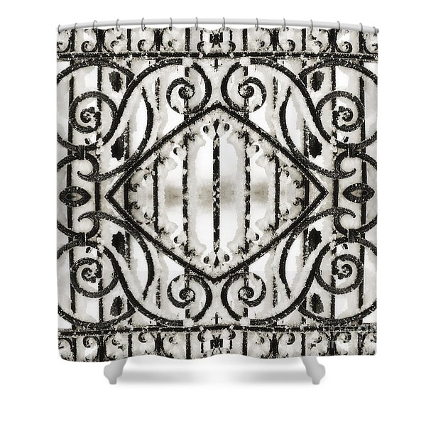 Snowy Forms Shower Curtain