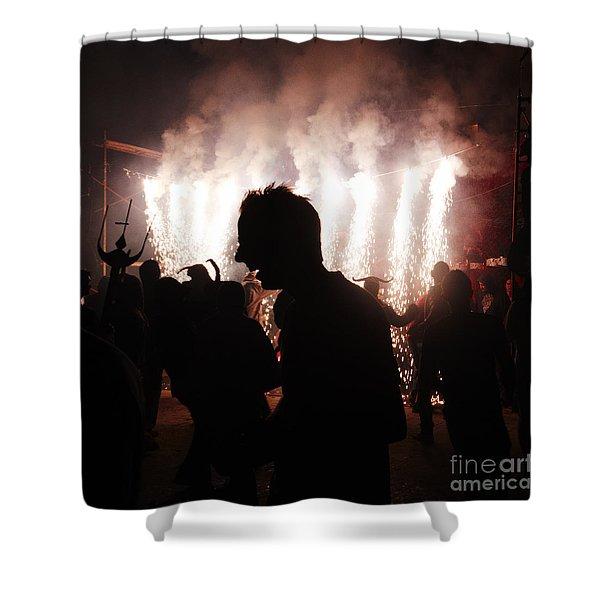 Spark Backlighting Shower Curtain