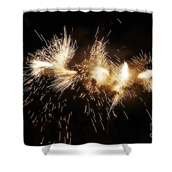 Shower Curtain featuring the photograph Spark Snake by Agusti Pardo Rossello