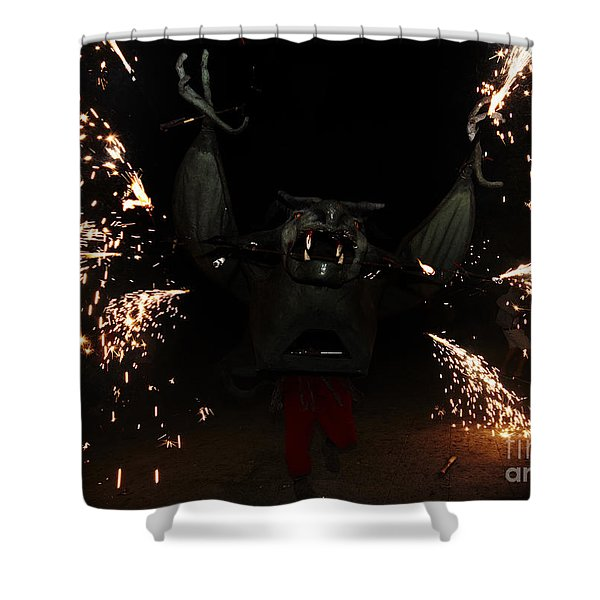 Shower Curtain featuring the photograph Sparkling Bat by Agusti Pardo Rossello