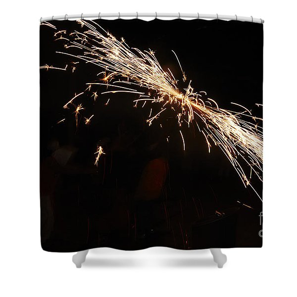 Shower Curtain featuring the photograph Sparks Disco by Agusti Pardo Rossello