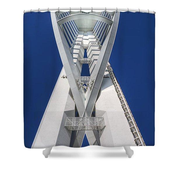 Spinnaker On Blue Shower Curtain