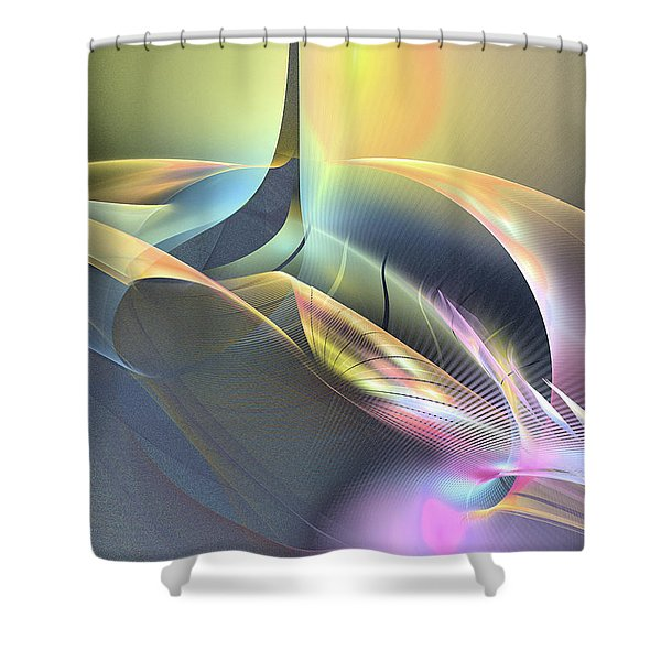 Spiritus Nocturnus - Abstract Art Shower Curtain