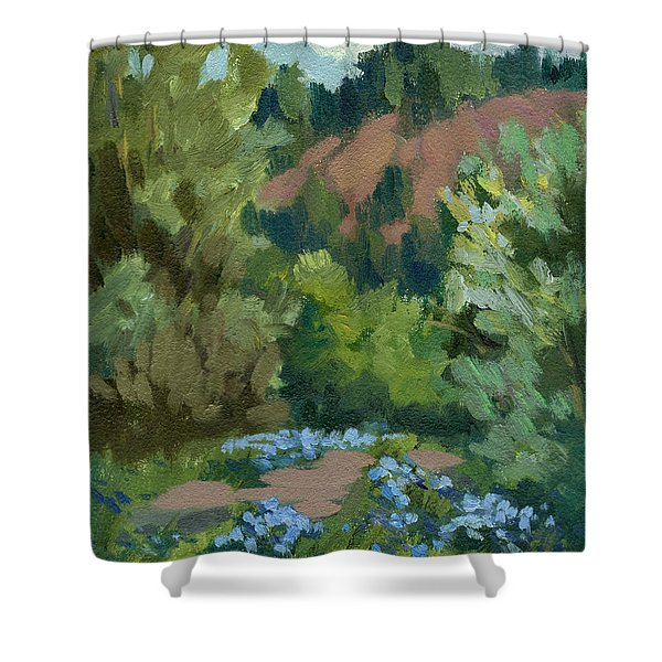 Spring And Canterbury Bells Shower Curtain
