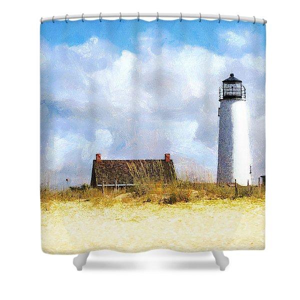 St. George Island Lighthouse Shower Curtain