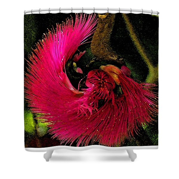 St Kitts Flora Shower Curtain