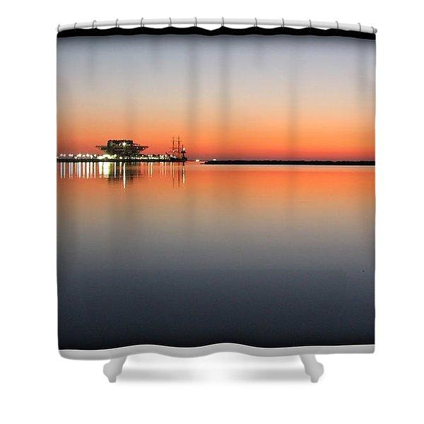 St. Pete Sunrise Shower Curtain