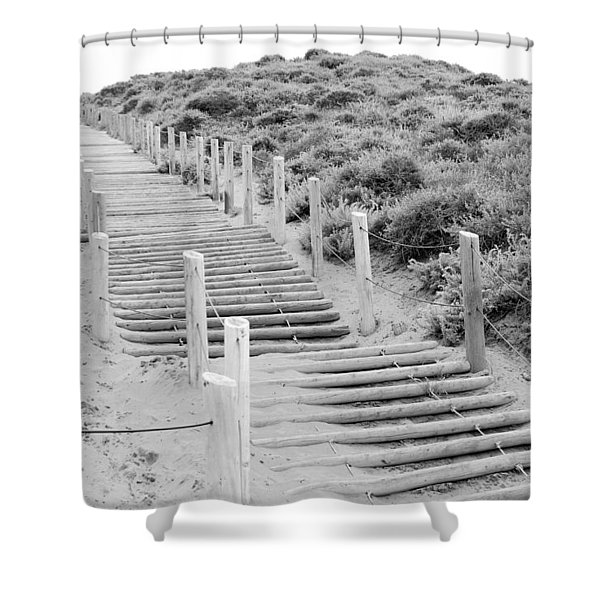 Stairs At Baker Beach Shower Curtain