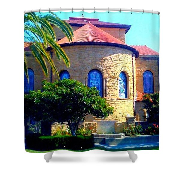 Stanford University Chapel - Palo Alto Ca Shower Curtain