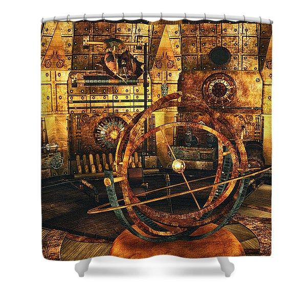 Steampunk Time Lab Shower Curtain