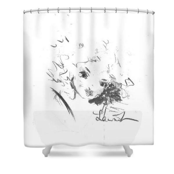 Shower Curtain featuring the drawing Just Country by Laurie Lundquist