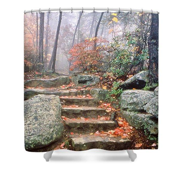 Steps Cloudland Canyon Shower Curtain
