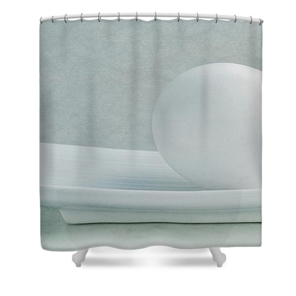 Still Life With An Egg Shower Curtain
