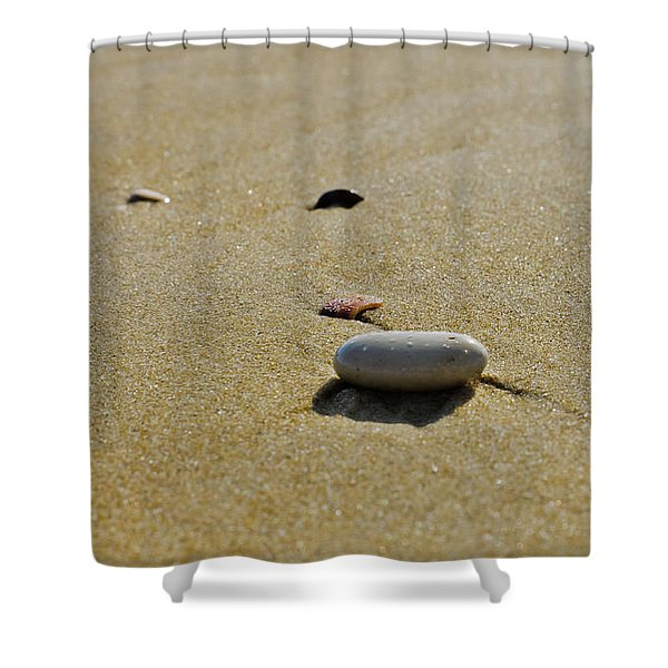 Stones In The Sand Shower Curtain