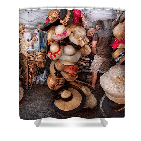 Storefront - Hat Stand Shower Curtain