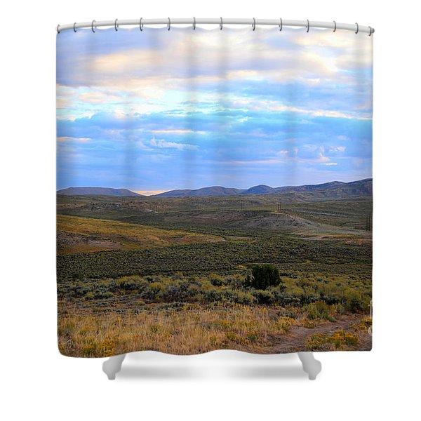 Stormy Wyoming Sunrise I Shower Curtain