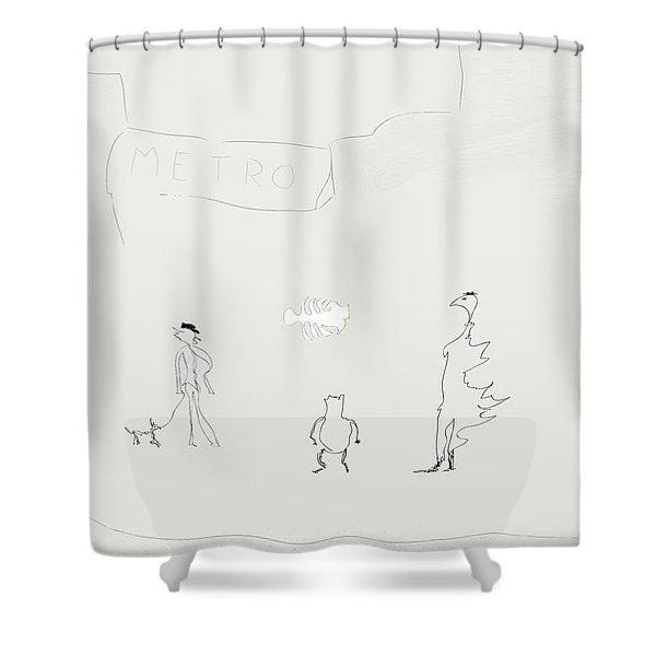 Street Apparition Shower Curtain