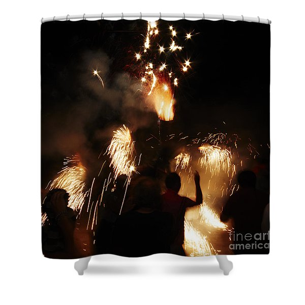 Shower Curtain featuring the photograph Street Fire by Agusti Pardo Rossello