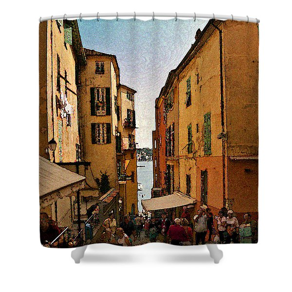 Street In Villefranche II Shower Curtain
