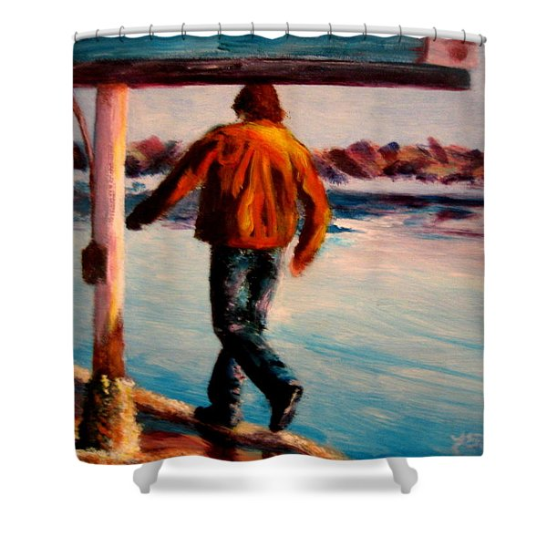 Stride Shower Curtain