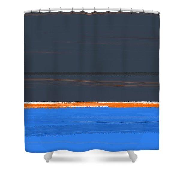 Stripe Orange Shower Curtain