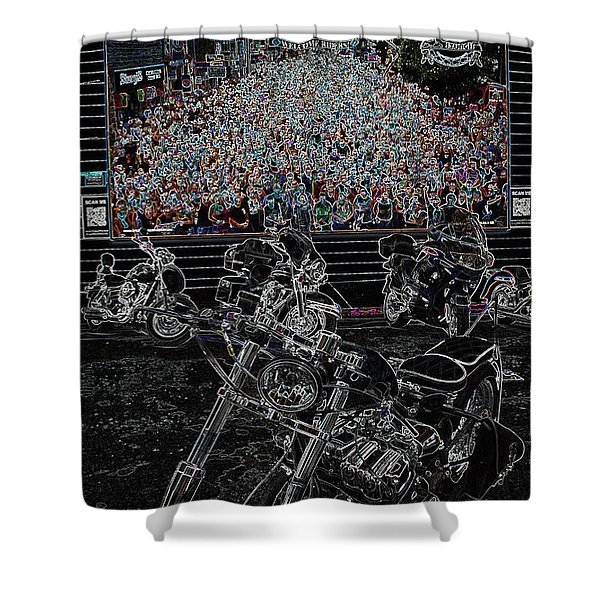 Stugis Motorcycle Rally Shower Curtain
