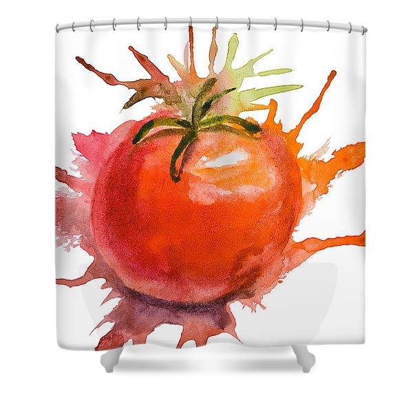 Stylized Illustration Of Tomato Shower Curtain