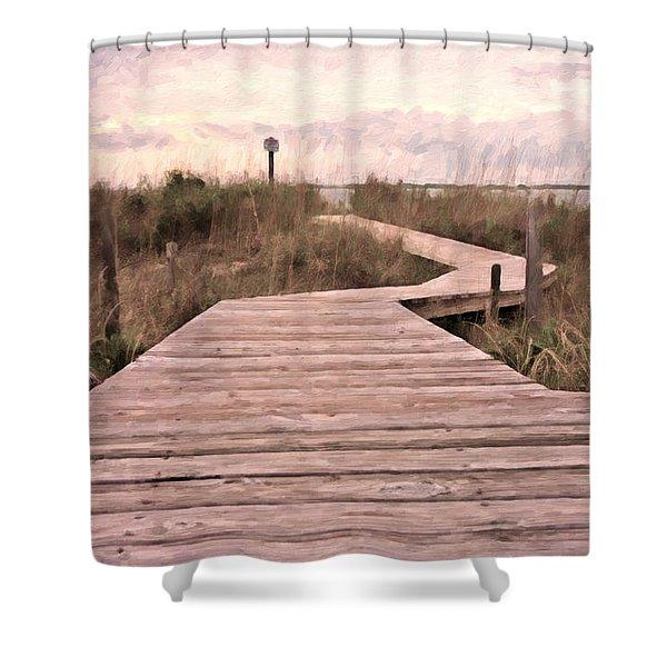 Subtle Bridge Shower Curtain