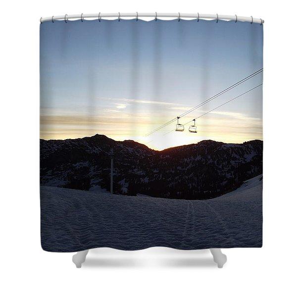 Sugarloaf Sunrise Shower Curtain