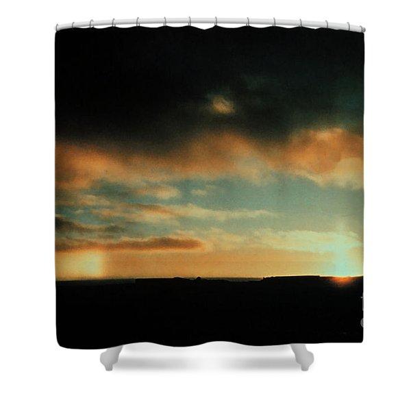 Sun Pillar And Parhelion Shower Curtain